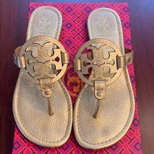 Tory Burch Miller Metallic Sandal Gold sz6